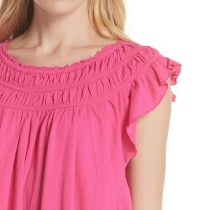 Free People Coconut Gathered Flowy Top. Size S